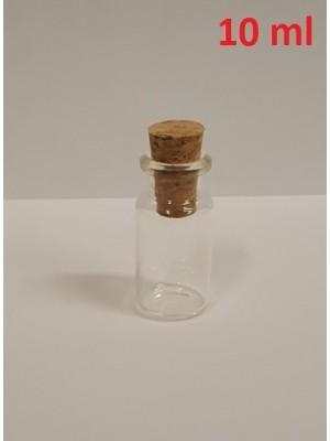 Buteliukas, skaidraus stiklo, LBG - 3 (su kamšteliu)