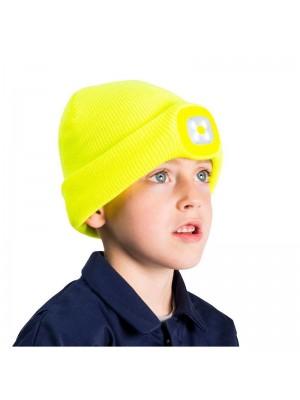 Jaunuoliams skirta kepurė su LED lempute PORTWEST B027