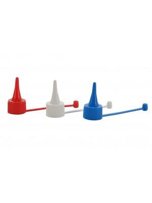 Plastikiniai kamšteliai, su lašintuvu, D17