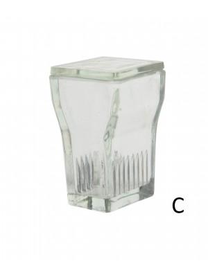 Stiklinis objektinių stiklelių dažymo indas