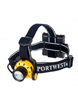 Ultra galingas ant galvos tvirtinamas žibintuvėlis PORTWEST PA64