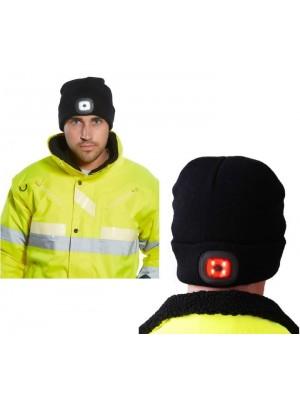 Kepurė su įkraunamu dvigubu LED PORTWEST B028