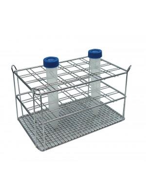 Centrifūginių mėgintuvėlių stovas, su dviguba viela