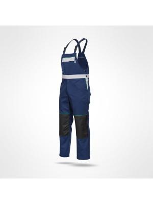 SARA SKIPER (10-321) - Kontrastingų spalvų darbo puskombinezoniai