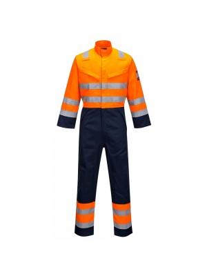 Modaflame oranžinės/tamsiai mėlynos spalvos kombinezonas PORTWEST MV29