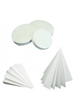 Kiekybinis filtrinis popierius, greitos filtracijos, mažo peleningumo