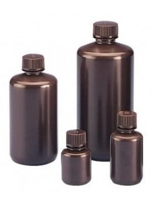 Tamsaus plastiko butelis, siauru kakleliu, HDPE