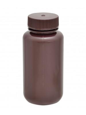 Tamsaus plastiko butelis, plačiu kakleliu, HDPE