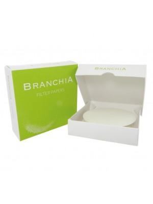Kiekybinis filtrinis popierius, vidutinės filtracijos, mažo peleningumo (Branchia)