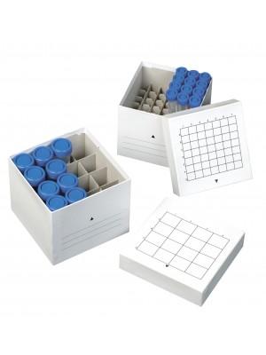 Kartoninė šaldymo dėžutė centrifūginiams mėgintuvėliams