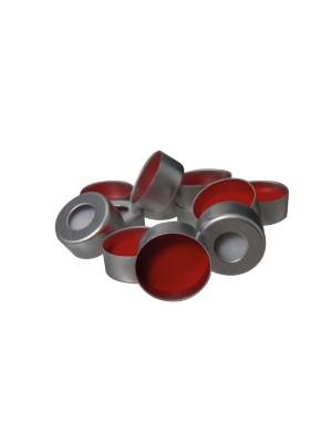 Aliumininiai užspaudžiami kamšteliai su silikono/PTFE septa