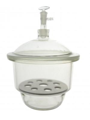 Vakuuminio tipo desikatorius su stikliniu kraneliu ir dangčiu