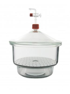 Vakuuminio tipo desikatorius su stikliniu kraneliu ir dangčiu, Premium Line