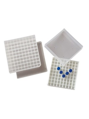 Plastikinė dėžutė cryo mėgintuvėliams