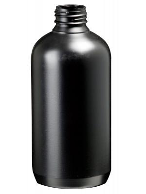 Plataus kaklelio butelis, juodas, HDPE