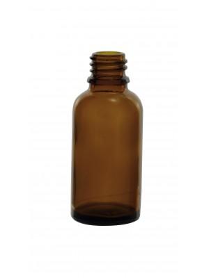 Gintaro spalvos stiklo buteliukas, DIN-18