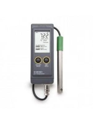 Vandeniui atsparus nešiojamas pH/Temperatūros matuoklis HI991001