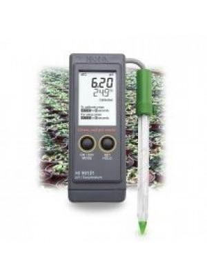 Nešiojamas pH metras žemės pH matavimams HI99121