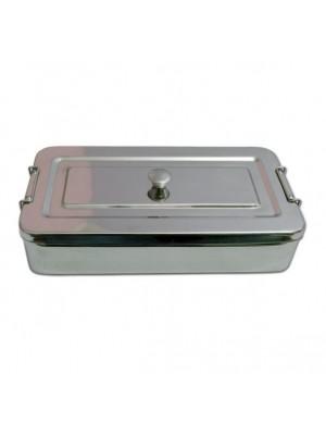 Metalinė dėžutė instrumentams (su dangčiu)