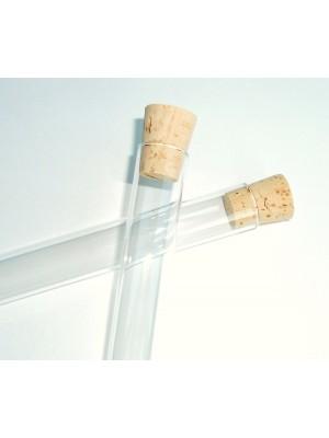 Stiklinis mėgintuvėlis, su kamšteliu
