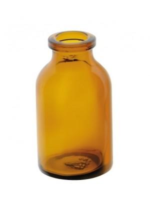 Bandinių buteliukas, gintaro spalvos stiklo