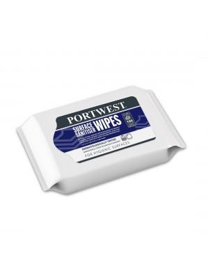 Dezinfekcinės servetėlės paviršiams (100 servetėlių) PORTWEST IW51