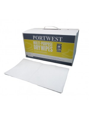 Universalios paskirties sausos šluostės (150 vienetų) PORTWEST IW90