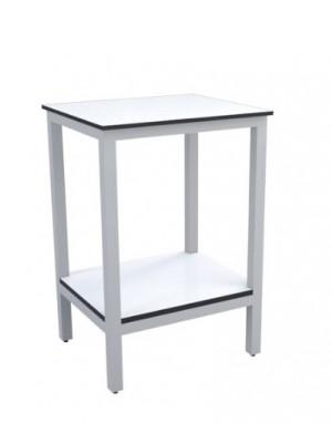 Laboratorinis stalas su lentynėle