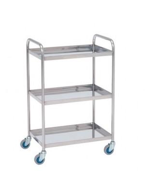 Laboratorinis vežimėlis su lentynomis