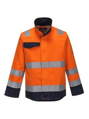Modaflame RIS oranžinės/tamsiai mėlynos spalvos švarkas PORTWEST MV35