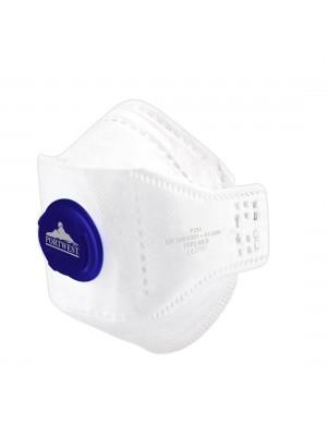 FFP2 Dolomite sulankstomas respiratorius su vožtuvu PORTWEST P291