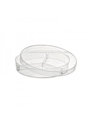 Plastikinės petri lėkštelės (su skyriais), 90 mm