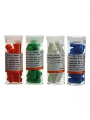 pH kalibravimo tirpalo kapsulės