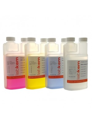 pH kalibravimo tirpalas su matavimo indu