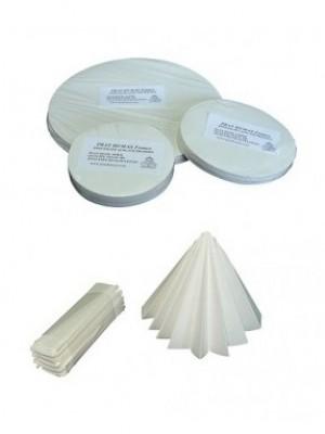 Kiekybinis filtrinis popierius, vidutinės filtracijos, mažo peleningumo