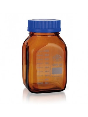Reagentų butelis, gintaro spalvos stiklo (GL 80)