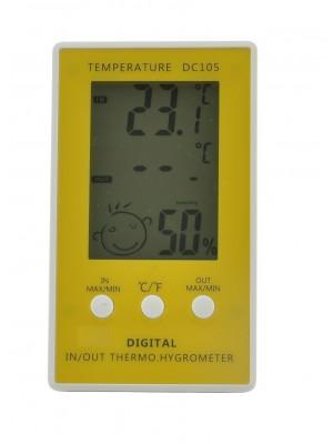 Skaitmeninis lauko / vidaus termo - higrometras, DC105