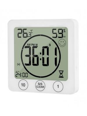 Skaitmeninis vidaus termo - higrometras su laikmačiu, KT-9
