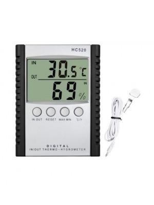 Skaitmeninis lauko / vidaus termo - higrometras, HC-520