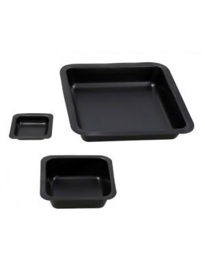 Juodos svėrimo lėkštelės, plastikinės