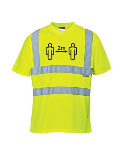 COVID-19 saugaus atstumo gero matomumo marškinėliai PORTWEST CV78