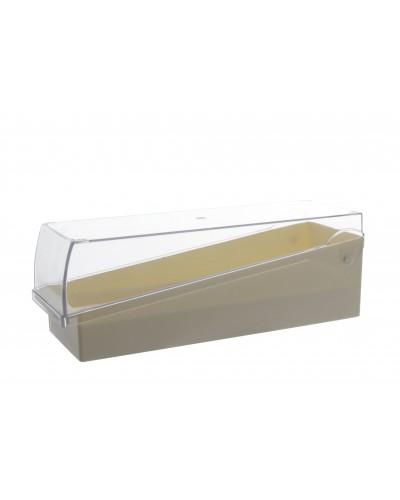 Objektinių stiklelių dėžutė su permatomu dangteliu